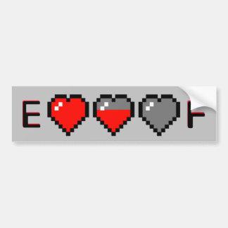 8-Bit Heart Meter Gas Guage Bumper Sticker