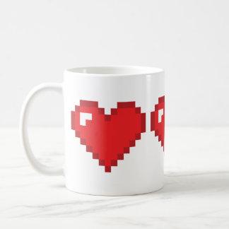 8 Bit Heart Coffee Mug