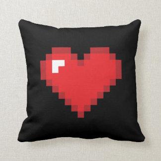 8 Bit Heart Throw Pillow