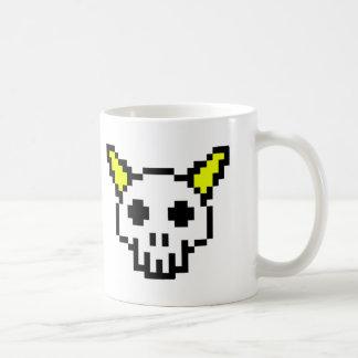8 Bit Horned Skull Coffee Mug