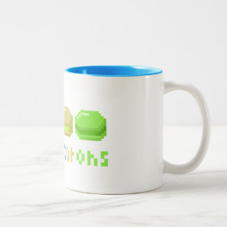 8-bit I Heart Macarons Pixels Coffee Mug