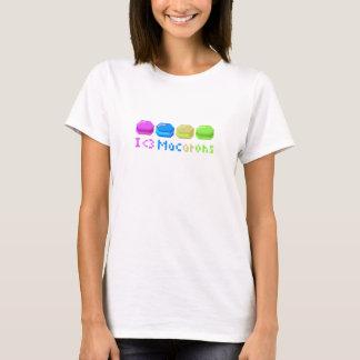 8-bit I Heart Macarons Pixels T-Shirt