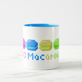 8-bit I Heart Macarons Pixels Two-Tone Coffee Mug