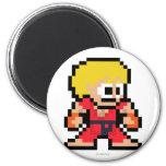 8-Bit Ken 2 Inch Round Magnet