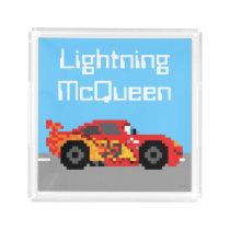 8-Bit Lightning McQueen Acrylic Tray