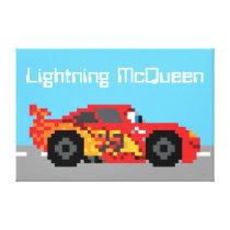 8-Bit Lightning McQueen Canvas Print