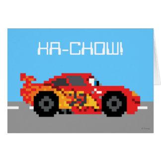 8-Bit Lightning McQueen Card
