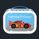 "8-Bit Lightning McQueen Lunch Box<br><div class=""desc"">Disney Fast Fashion   Cars   This cute 8-bit graphic features Disney/Pixar&#39;s Cars Lightning McQeen racing along the road.</div>"