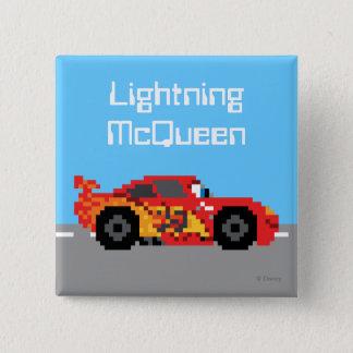 8-Bit Lightning McQueen Pinback Button