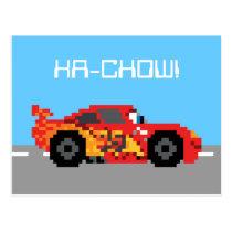 8-Bit Lightning McQueen Postcard