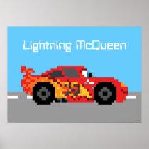 8-Bit Lightning McQueen Poster