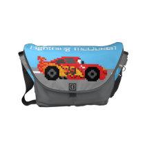 8-Bit Lightning McQueen Small Messenger Bag