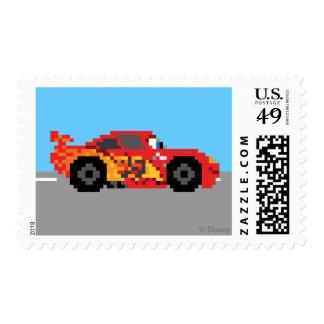 8-Bit Lightning McQueen Stamp