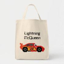 8-Bit Lightning McQueen Tote Bag