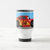 8-Bit Lightning McQueen Travel Mug
