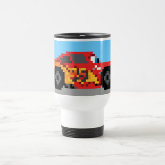 8-Bit Lightning McQueen Travel Mug