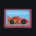 "8-Bit Lightning McQueen Tri-fold Wallet<br><div class=""desc"">Disney Fast Fashion   Cars   This cute 8-bit graphic features Disney/Pixar&#39;s Cars Lightning McQeen racing along the road.</div>"