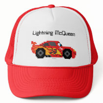 8-Bit Lightning McQueen Trucker Hat