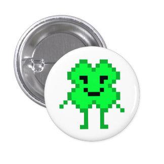 8 Bit Lucky Clover Button