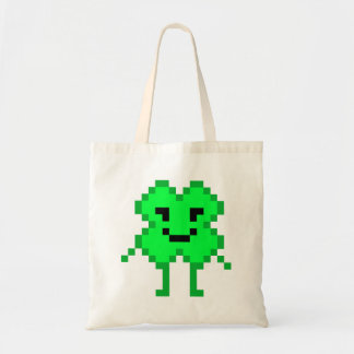 8 Bit Lucky Clover Tote Bag