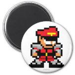 8-Bit M. Bison 2 Inch Round Magnet