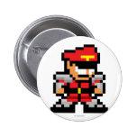 8-Bit M. Bison Pinback Button