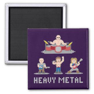 8 Bit Metal Band Magnet 2 Inch Square Magnet