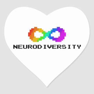 8-Bit Neurodiversity Heart Sticker