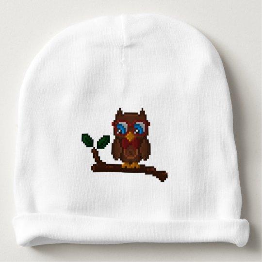 8 bit owl baby hat zazzle com