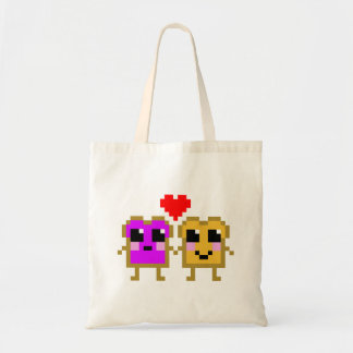 8 Bit Peanut Butter and Jelly Tote Bag