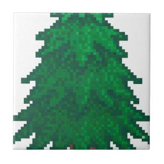 8 Bit Pine Tree Ceramic Tile
