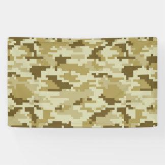 8 Bit Pixel Desert Camouflage Banner