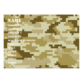 8 Bit Pixel Desert Camouflage Business Cards