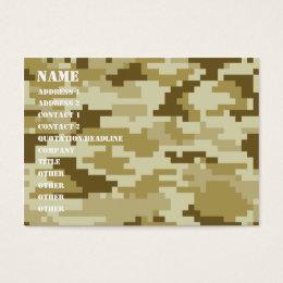Desert camo business cards templates zazzle 8 bit pixel desert camouflage camo business card colourmoves