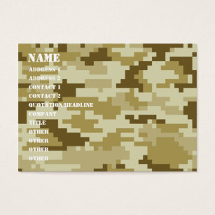 Pixel camo business cards templates zazzle 8 bit pixel desert camouflage camo business card colourmoves