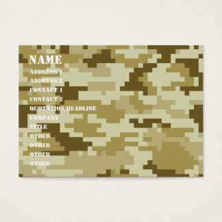 8 Bit Pixel Desert Camouflage / Camo Business Card
