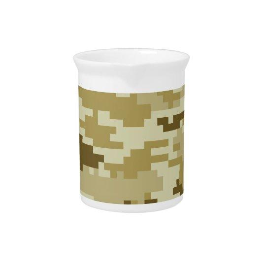 8 Bit Pixel Desert Camouflage / Camo Drink Pitchers