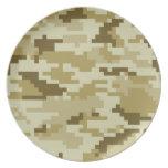 8 Bit Pixel Desert Camouflage / Camo Plate