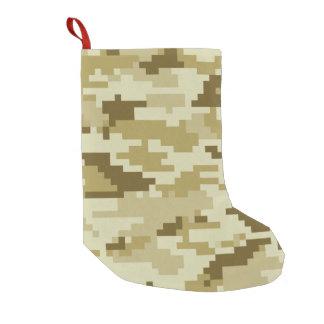 8 Bit Pixel Desert Camouflage / Camo Small Christmas Stocking