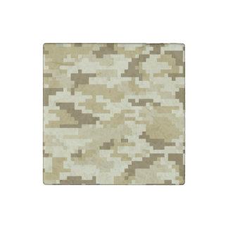 8 Bit Pixel Desert Camouflage / Camo Stone Magnet