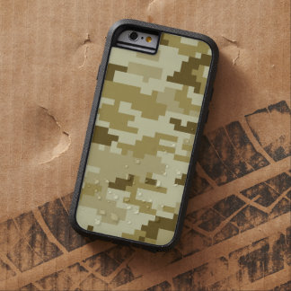 8 Bit Pixel Desert Camouflage / Camo Tough Xtreme iPhone 6 Case