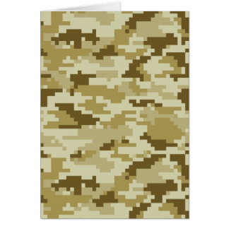 8 Bit Pixel Desert Camouflage Card