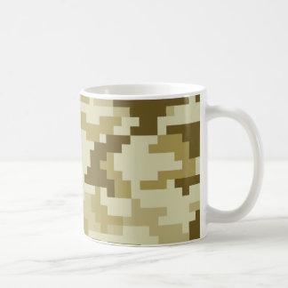 8 Bit Pixel Desert Camouflage Classic White Coffee Mug