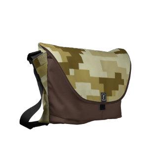 8 Bit Pixel Desert Camouflage Courier Bag