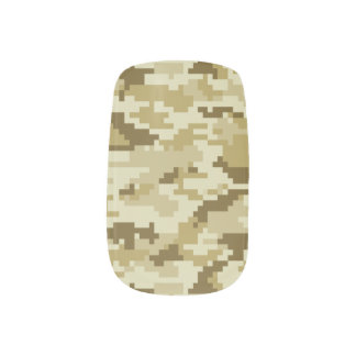 8 Bit Pixel Desert Camouflage Minx ® Nail Art