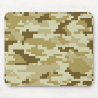 8 Bit Pixel Desert Camouflage Mouse Pad