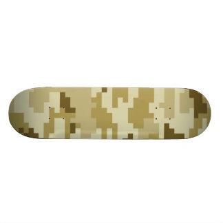 8 Bit Pixel Desert Camouflage Skateboard