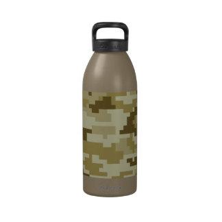 8 Bit Pixel Desert Camouflage Water Bottle