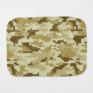 8 Bit Pixel Desert Camouflage Burp Cloths