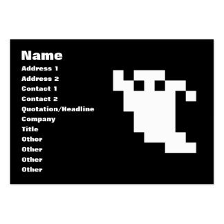 8 Bit Pixel Ghost Large Business Cards (Pack Of 100)
